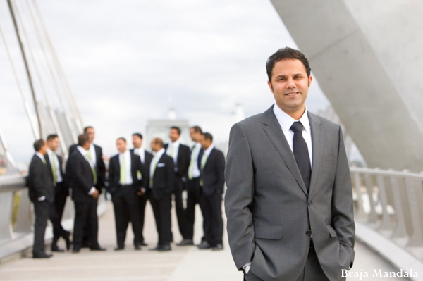 Indian wedding groom groomsmen portraits in San Diego, California Indian Wedding by Braja Mandala Wedding Photography