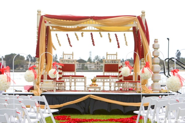 Indian wedding hindu traditional ceremony mandap in San Diego, California Indian Wedding by Braja Mandala Wedding Photography