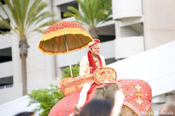 Indian wedding baraat celebration traditional in San Diego, California Indian Wedding by Braja Mandala Wedding Photography