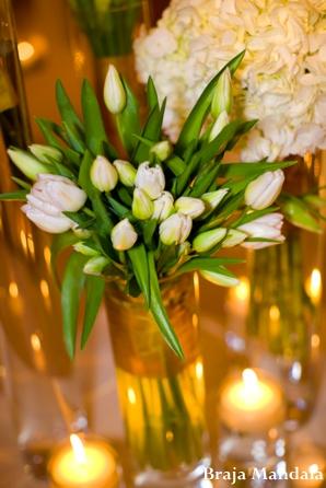 Indian wedding reception floral inspiration in San Diego, California Indian Wedding by Braja Mandala Wedding Photography