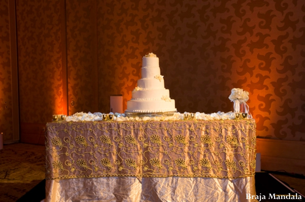 Indian wedding reception cake sweets inspiration in San Diego, California Indian Wedding by Braja Mandala Wedding Photography