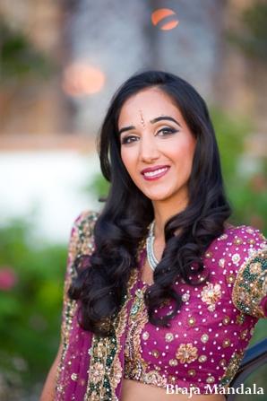 Indian-wedding-bridal-portrait-lengha-hot-pink