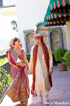 Indian-wedding-bride-groom-couple-portrait