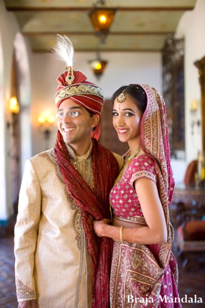Indian-wedding-bride-groom-lengha-portrait
