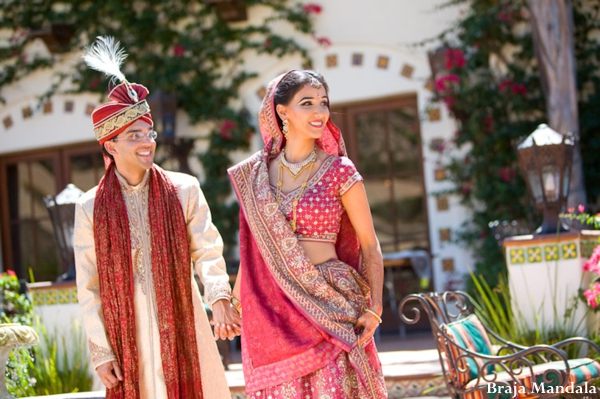 Indian-wedding-bride-groom-outdoor-portrait