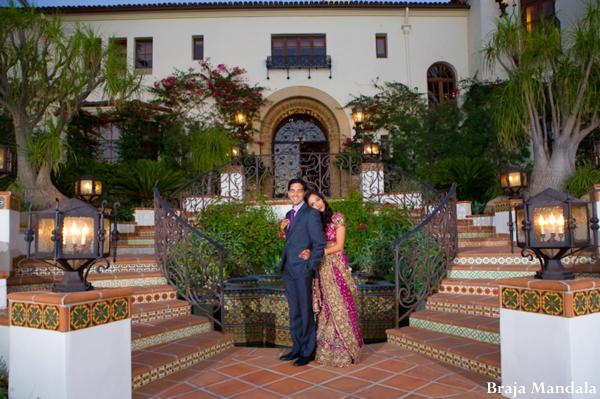 Indian-wedding-bride-groom-portrait-outdoors