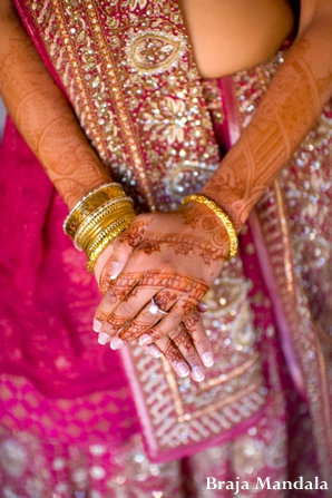 Indian-wedding-henna-arms-pink-lengha