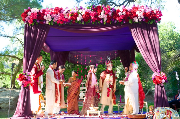 Indian-wedding-mandap-outdoor-ceremony-colorful