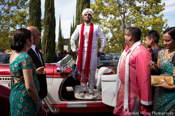 Indian-wedding-baraat-car-entrance-groom
