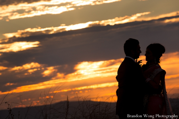 Indian-wedding-bride-groom-sunset
