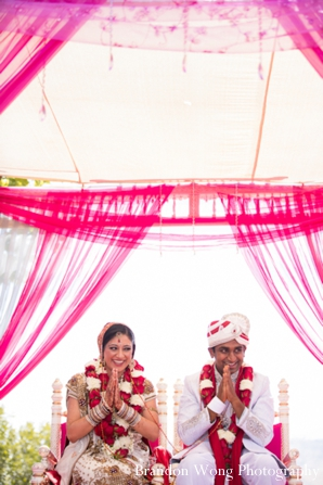Indian-wedding-ceremony-groom-bride-mandap