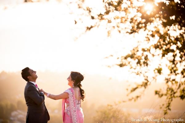 Indian-wedding-portrait-groom-bride-sunset