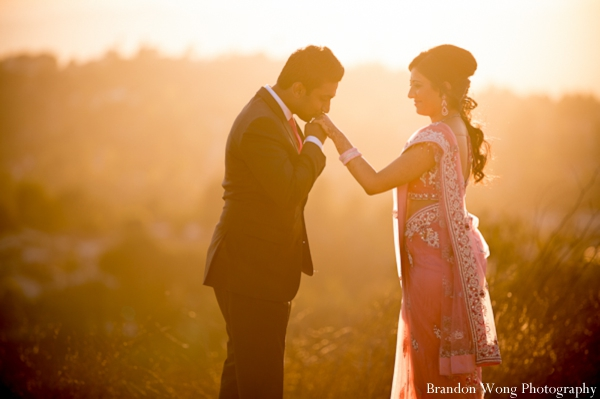 Indian-wedding-portrait-sunset-bride-groom