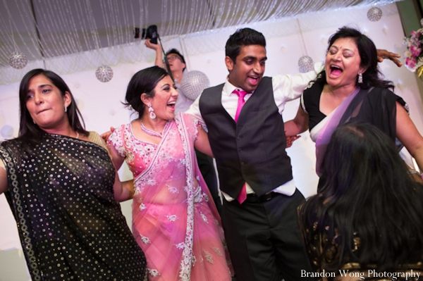 Indian-wedding-reception-bride-groom-decor-dancing