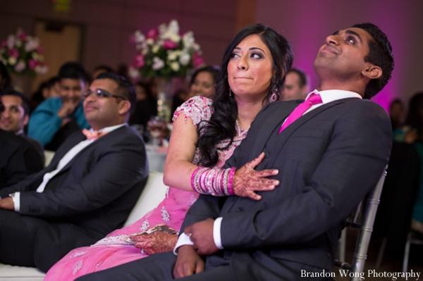 Indian-wedding-reception-bride-groom-party