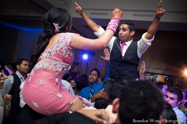 Indian-wedding-reception-bride-groomdancing-group