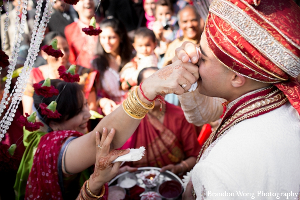 Indian wedding baraat ceremony groom in Newport Beach, California Indian Wedding by Brandon Wong Photography
