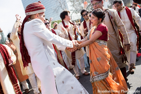 Indian wedding baraat groom photography in Newport Beach, California Indian Wedding by Brandon Wong Photography