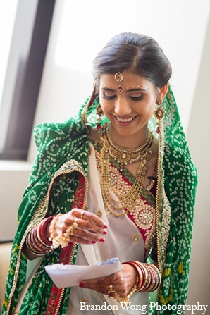 Indian wedding bridal fashion sari in Newport Beach, California Indian Wedding by Brandon Wong Photography