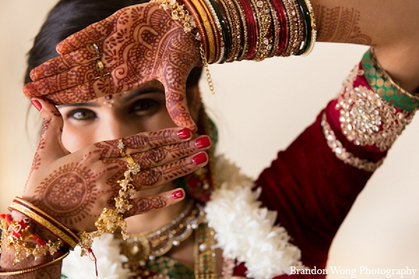 Indian wedding bridal mehndi photography in Newport Beach, California Indian Wedding by Brandon Wong Photography