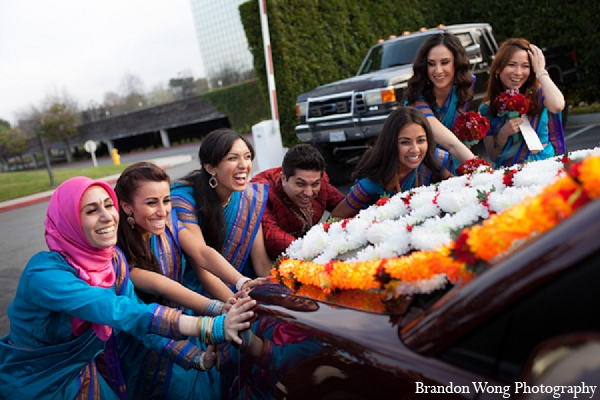 Indian wedding bridal party ceremony in Newport Beach, California Indian Wedding by Brandon Wong Photography