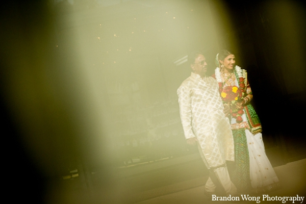 Indian wedding bride ceremony father in Newport Beach, California Indian Wedding by Brandon Wong Photography