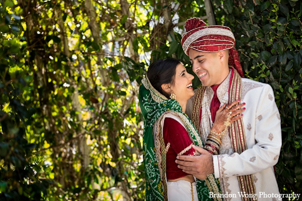 Indian wedding bride groom portraits in Newport Beach, California Indian Wedding by Brandon Wong Photography