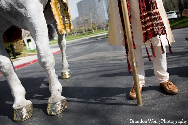 Indian wedding groom baraat photography in Newport Beach, California Indian Wedding by Brandon Wong Photography