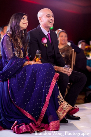 Indian wedding groom reception bride in Newport Beach, California Indian Wedding by Brandon Wong Photography