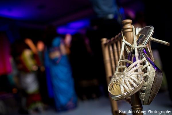 Indian wedding photography reception shoes in Newport Beach, California Indian Wedding by Brandon Wong Photography