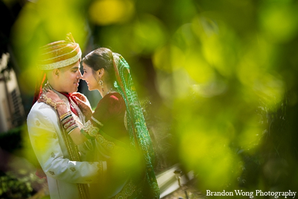 Indian wedding portraits groom bride in Newport Beach, California Indian Wedding by Brandon Wong Photography