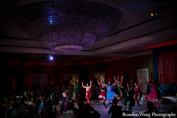 Indian wedding reception dancers venue in Newport Beach, California Indian Wedding by Brandon Wong Photography