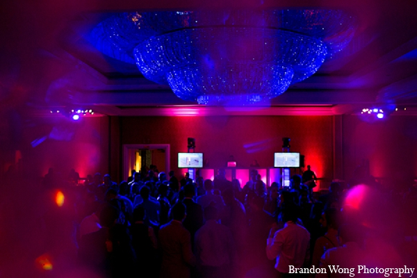 Indian wedding reception lighting photography in Newport Beach, California Indian Wedding by Brandon Wong Photography