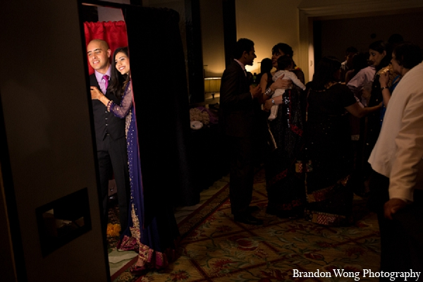 Indian wedding reception photobooth photography in Newport Beach, California Indian Wedding by Brandon Wong Photography