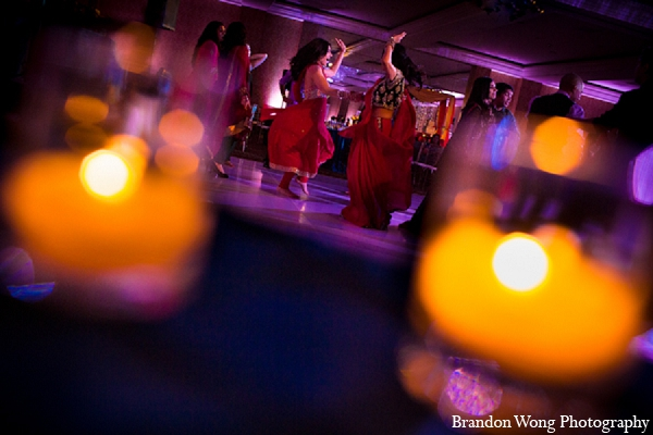 Indian wedding reception photography lighting in Newport Beach, California Indian Wedding by Brandon Wong Photography