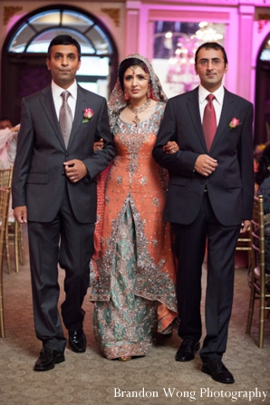 Indian-wedding-ceremony-bride-walking-down-aisle