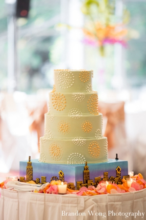Indian-wedding-reception-cake-yellow-inspiration