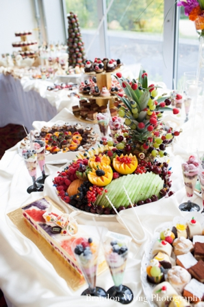 Indian-wedding-reception-fruit-table