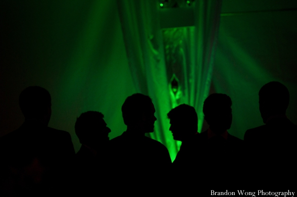 Indian-wedding-reception-green-lighting