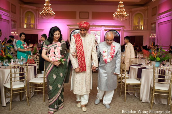Indian-wedding-reception-groom-and-family
