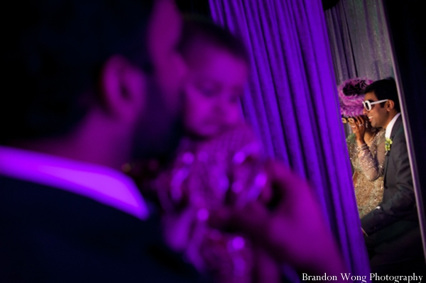 Indian-wedding-reception-purple-lighting