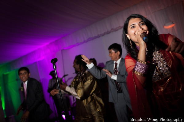 Indian-wedding-reception-singing-lighting-entertainment