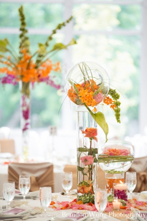 Indian-wedding-reception-table-setting-floral-centerpiece