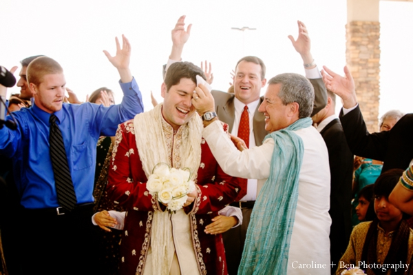 Indian wedding baraat family groom