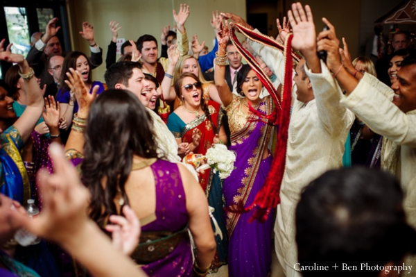 Indian wedding baraat family guests groom