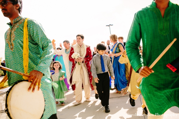 Indian wedding baraat family guests