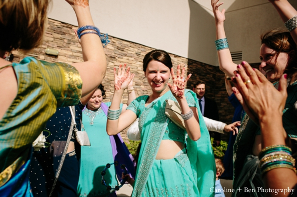 Indian wedding baraat guests lengha