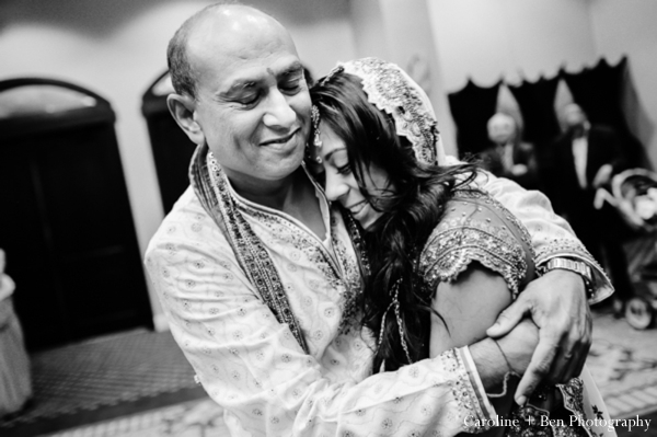 Indian wedding ceremony bride father