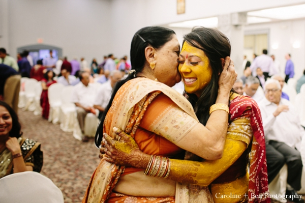 Indian wedding gaye holud bride family