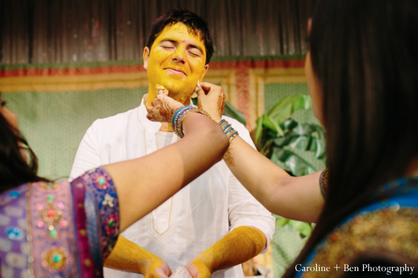 Indian wedding gaye holud groom